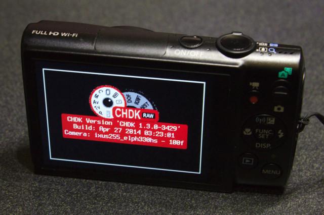 Canon PowerShot ELPH 330 HS with CHDK