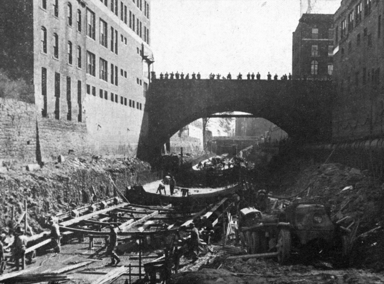 Original Conduit Excavation and Invert Construction (from Hartford Engineering Dept. Report)